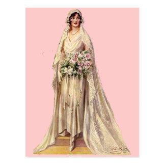 Vintage Bride Postcard
