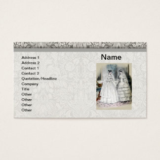 Vintage Bride Wedding Dress Business Card