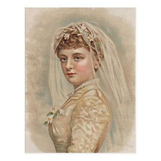 Vintage Bride - Wedding Postcard