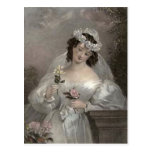 Vintage Bride with Flowers Post Cards