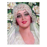 Vintage Bride with Roses Post Cards