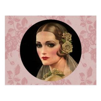Vintage Bride with Roses Postcards