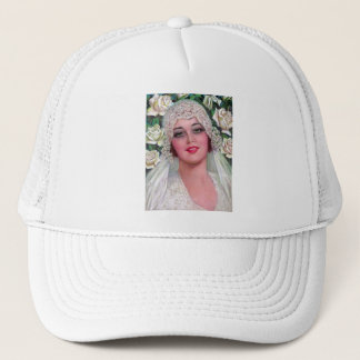 Vintage Bride with Roses Trucker Hat