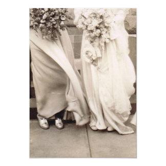 Vintage Bridesmaid and Bride Card