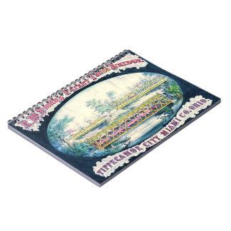 Vintage Bridge Ad 1868 Notebook