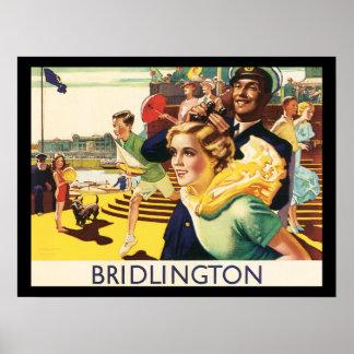 Vintage Bridlington England Resort Poster