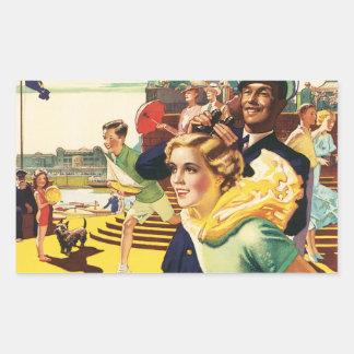 Vintage Bridlington England Resort Poster Rectangular Sticker