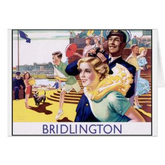 Vintage Bridlington Tarjeta De Felicitación