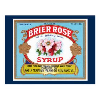 Vintage Brier Rose Maple Syrup Crate Label Postcard