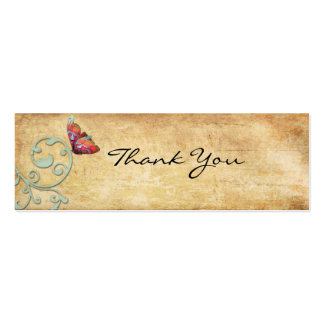 Vintage Bright  Butterfly Thank You Note Business Cards