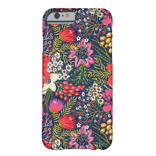 Vintage Bright Floral Pattern Fabric iPhone 6 Case ...
