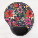 """Vintage Bright Floral Pattern Gel Mouse Pad<br><div class=""""desc"""">Vintage Bright Floral Pattern Gel Mouse Pad. Decorate your office or home with a custom contoured oval mousepad. Featuring an ergonomic gel pad wrist support and non-skid black plastic base,  this mousepad will look great with your images,  text,  or designs.</div>"""