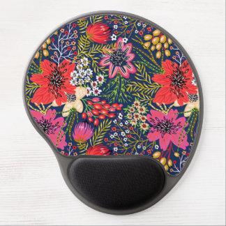 Vintage Bright Floral Pattern Gel Mouse Pad