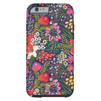 Vintage Bright Floral Pattern Tough iPhone 6 Case