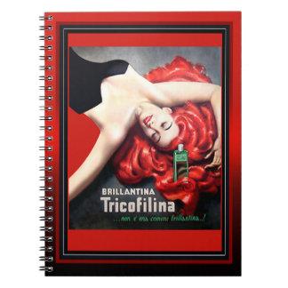 Vintage Brillantina Tricofilina Redhead Notebook