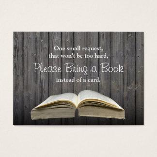 Vintage Bring a Book Baby Shower Insert