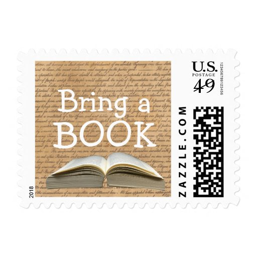 vintage bring a book baby shower stamps zazzle