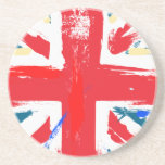 Vintage británico de la bandera de Union Jack Posavasos Diseño