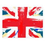 Vintage británico de la bandera de Union Jack Tarjetas Postales