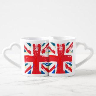 Vintage británico de la bandera de Union Jack Taza Amorosa