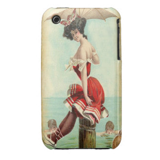 Vintage British Beauty at the Sea Shore iPhone 3 Case