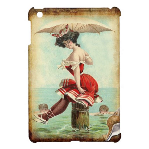 Vintage British Beauty at the Sea Shore Case For The iPad Mini