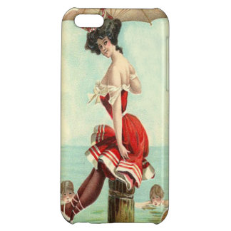 Vintage British Beauty at the Sea Shore iPhone 5C Cases