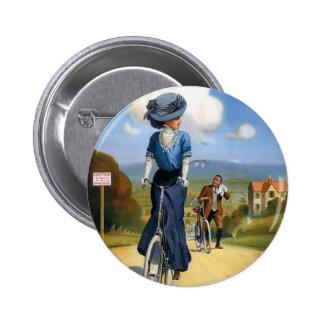Vintage British Bicycle Ad Pinback Button