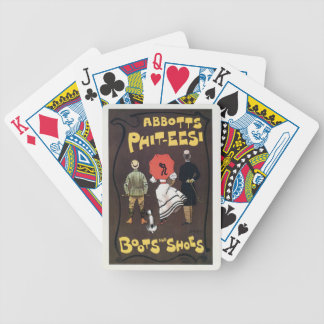 Vintage British boots and shoes advertising Bicycle Playing Cards