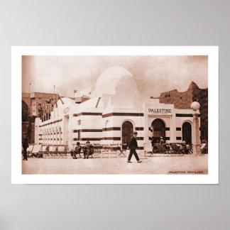 Vintage British Empire Expo Palestine Pavilion Poster