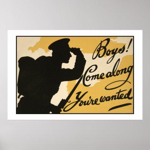 Vintage British First World War Poster