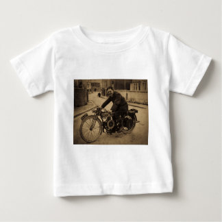 Vintage British Motorcycle  Early 1900s Baby T-Shirt