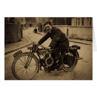 Vintage British Motorcycle  Early 1900s Greeting Card