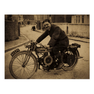 Vintage British Motorcycle  Early 1900s Postcard
