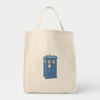 Vintage British Police Callbox Tote Bag