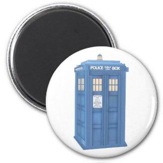 Vintage British Police Callbox 2 Inch Round Magnet