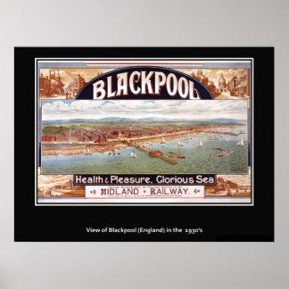 Vintage British Poster Blackpool print