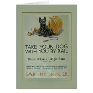 Vintage British Rail Scottie Note Card