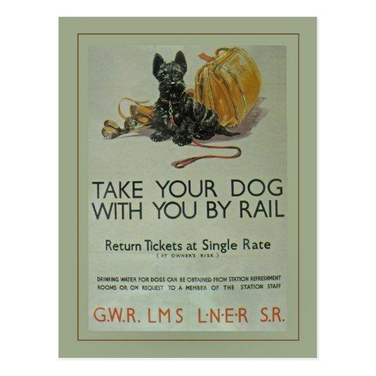Vintage British Rail Scottie Postcard