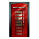 Vintage British Red Phone Box Social Profile Double-Sided Standard Business Cards (Pack Of 100)