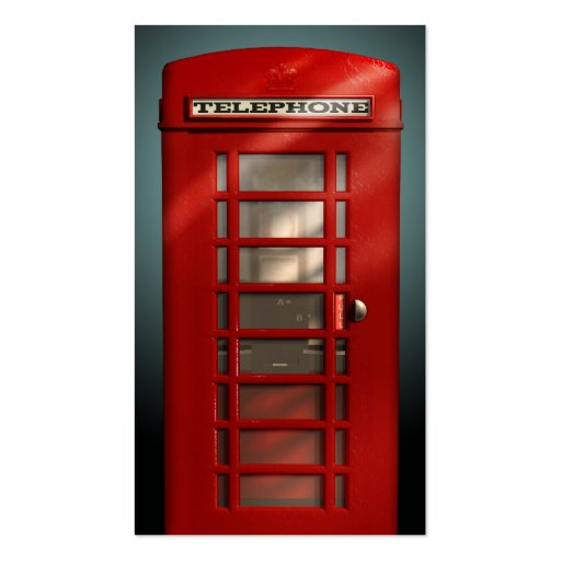 Vintage British Red Phone Box Social Profile Business Card Templates