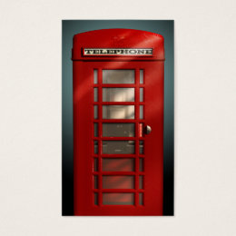 Phone booth business cards templates zazzle vintage british red phone box social profile business card reheart Gallery