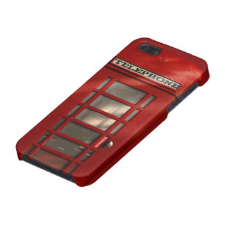 Vintage British Red Telephone Box Cover For iPhone SE/5/5s