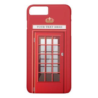 Vintage British Red Telephone Box Custom Monogram iPhone 8 Plus/7 Plus Case