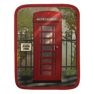Vintage British Red Telephone Box iPad Sleeves