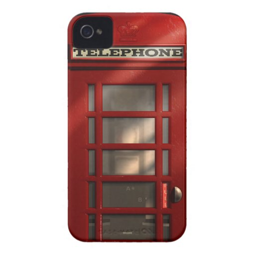 Vintage British Red Telephone Box iPhone 4 Case-Mate Case
