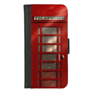 Vintage British Red Telephone Box iPhone 8/7 Wallet Case