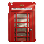 Vintage British Red Telephone Box Personalized iPad Mini Cases