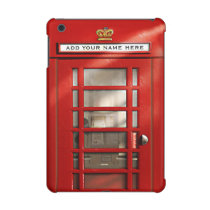 Vintage British Red Telephone Box Personalized iPad Mini Cover