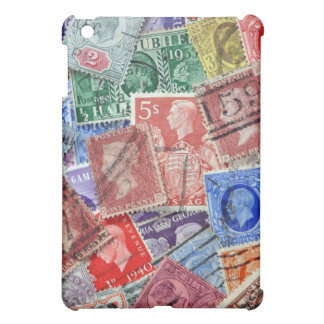 Vintage british stamps collection iPad mini case